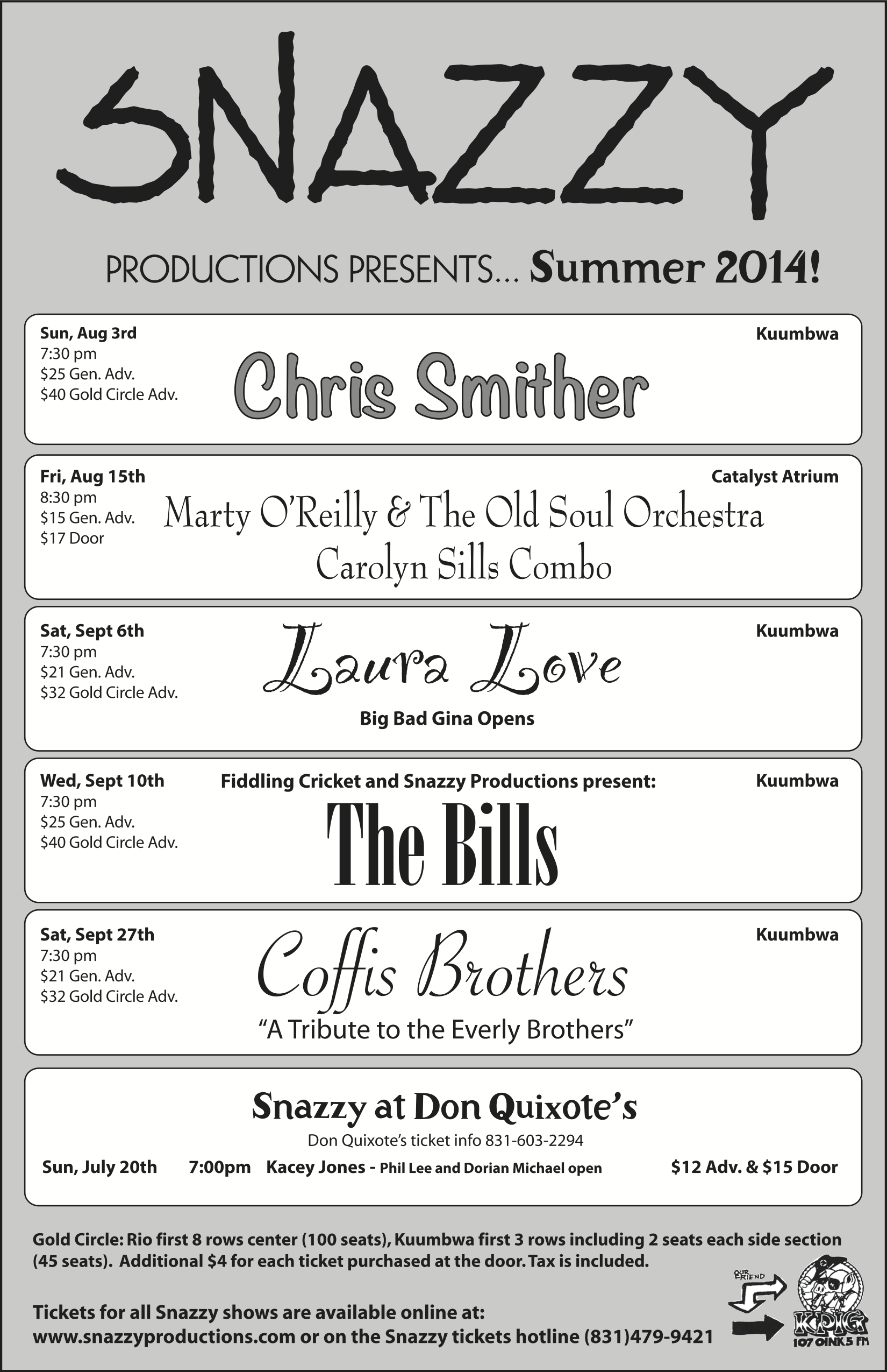 Snazzy Summer 2014 Flyer