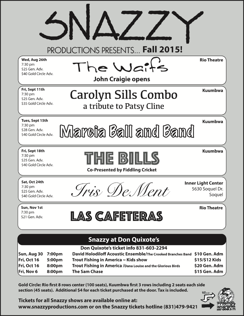 Snazzy Fall 2015 Flyer
